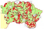 Distribúcia zverejnených strategických rozvojových dokumentov obcí v NUTS2 Východné Slovensko